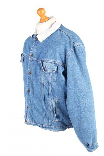 Vintage Westerns Denim Jacket Sherpa L Blue -DJ1503-103575