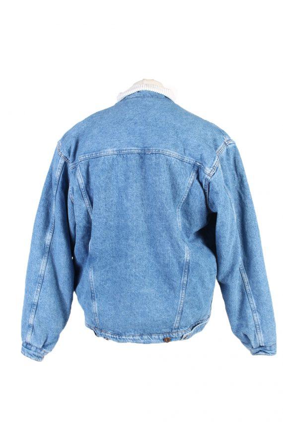 Vintage Westerns Denim Jacket Sherpa L Blue -DJ1503-103576