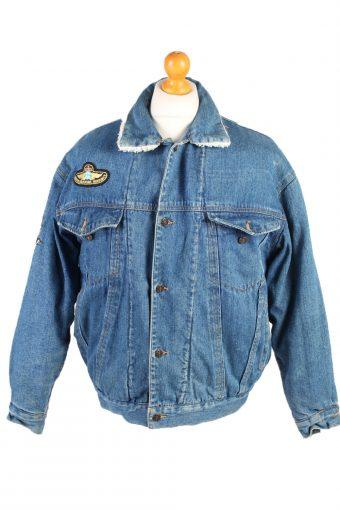 Joy Denim Jacket Sherpa Blue L