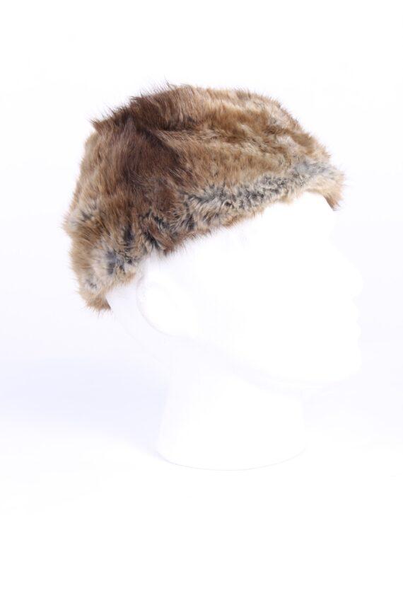 Vintage Fur Canadian Style Genuine Hat Grey HAT229-0
