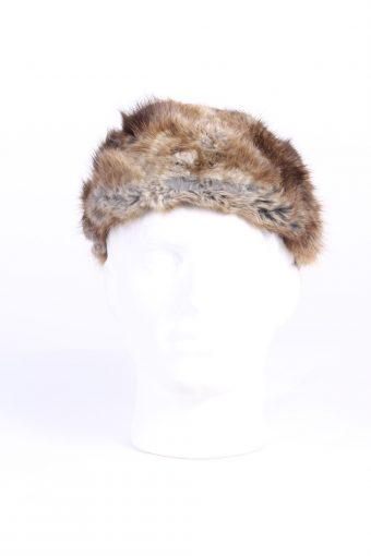 Vintage Fur Canadian Style Genuine Hat Grey HAT229-102068