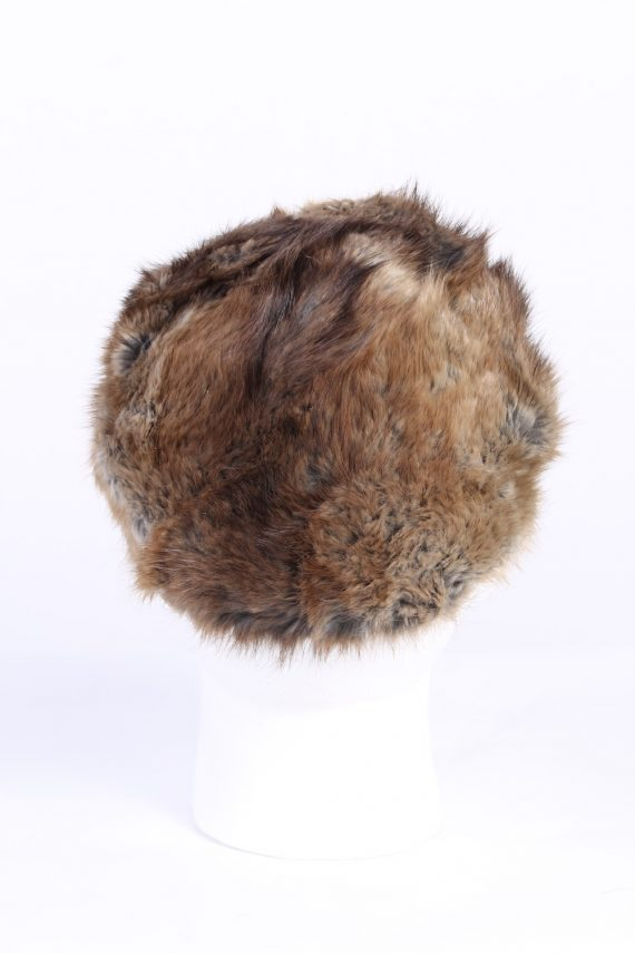 Vintage Fur Canadian Style Genuine Hat Grey HAT229-102069