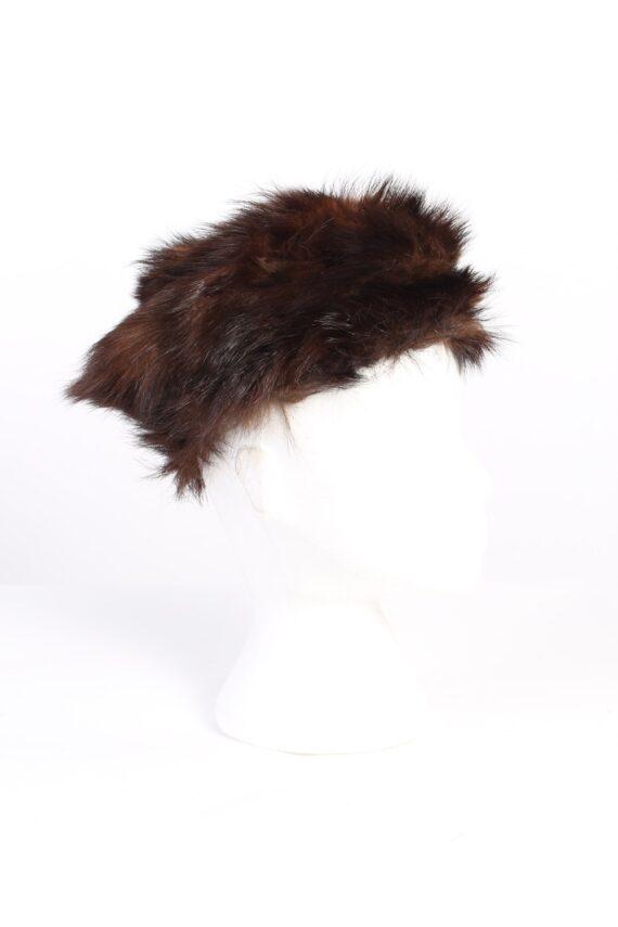 Vintage Fur Europen Style Genuine Hat Brown HAT237-0