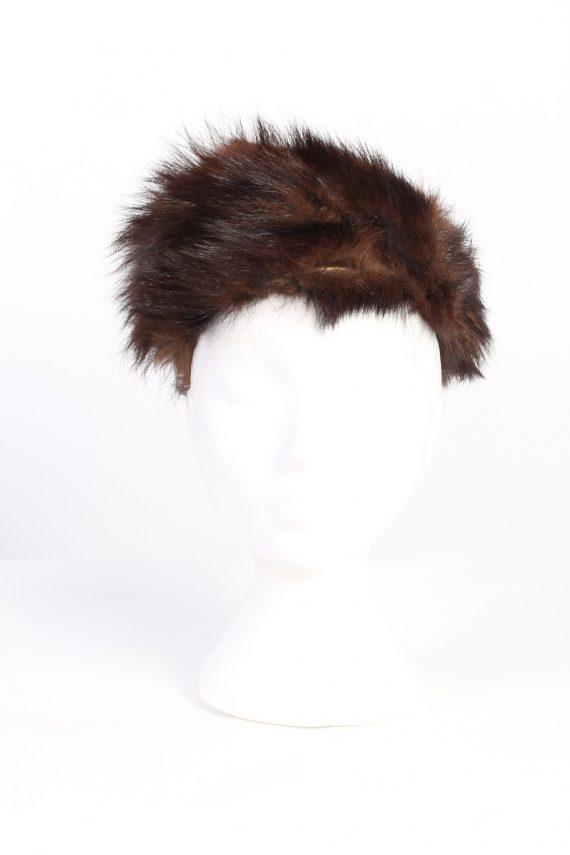 Vintage Fur Europen Style Genuine Hat Brown HAT237-102100