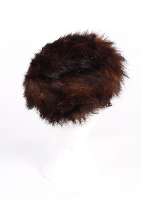 Vintage Fur Europen Style Genuine Hat Brown HAT237-102101