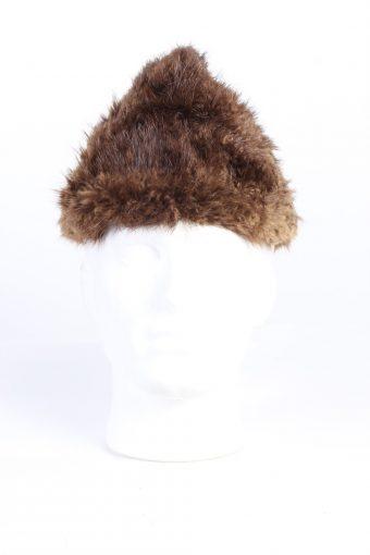 Vintage Fur Canadian Style Genuine Hat Brown HAT243-102124