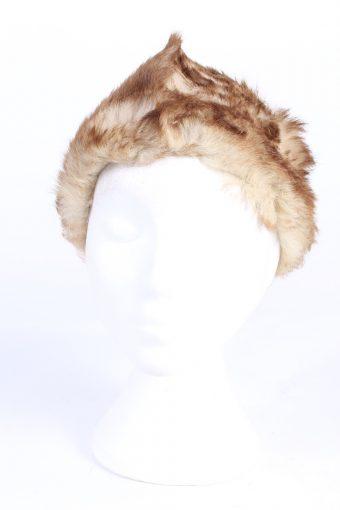 Vintage Fur Europen Style Genuine Hat Mocha HAT246-102136