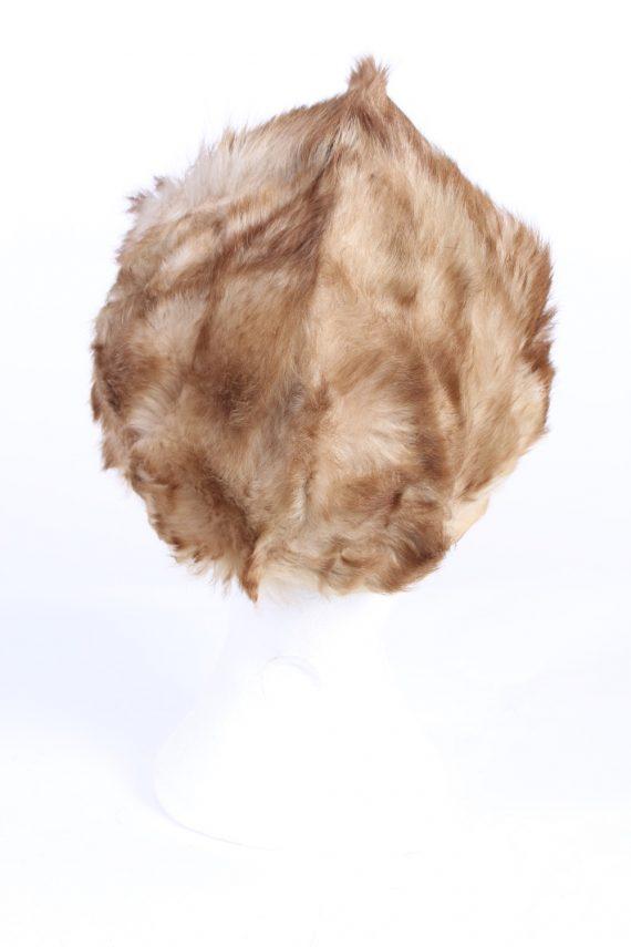Vintage Fur Europen Style Genuine Hat Mocha HAT246-102137