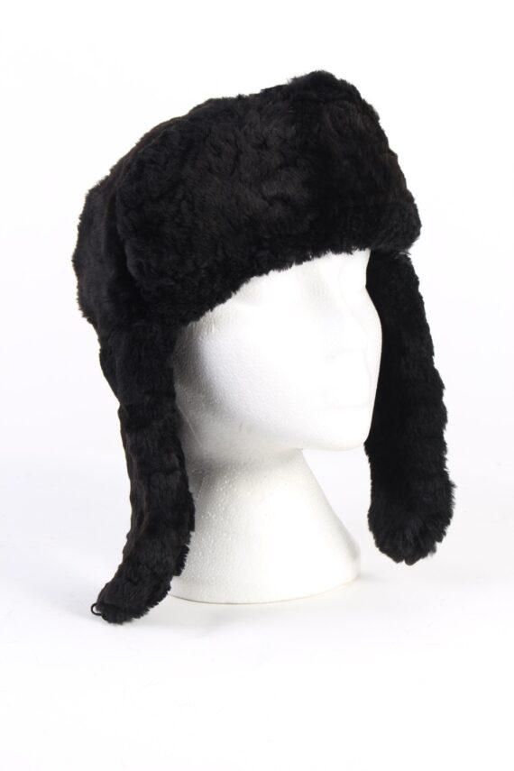 Vintage Fur Country Style Genuine Hat Black HAT257-0