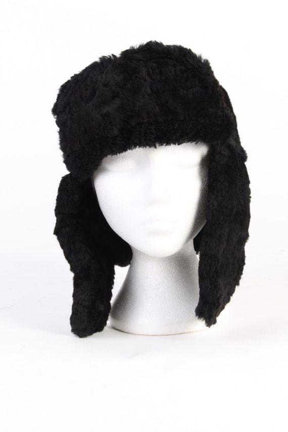 Vintage Fur Country Style Genuine Hat Black HAT257-102180