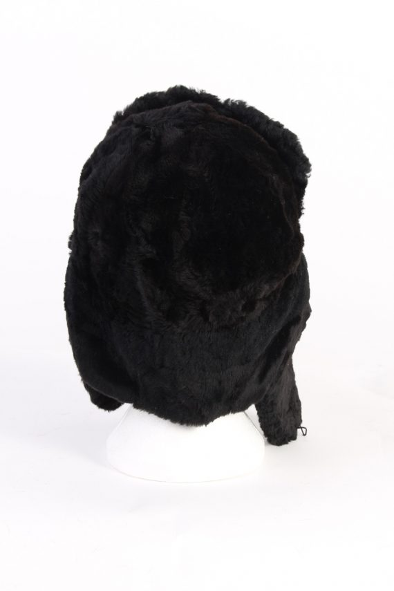 Vintage Fur Country Style Genuine Hat Black HAT257-102181