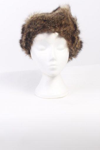 Vintage Fur Canadian Style Genuine Hat Mocha HAT265-102535