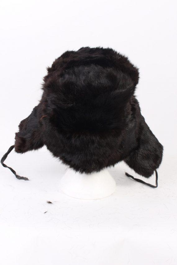 Vintage Fur Hat Russian Style Arm C.C.C.P Black HAT333-102814