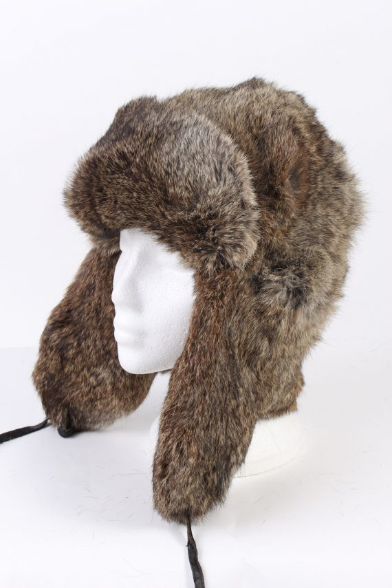 Vintage Fur Hat European Style Faux Mocha HAT341-0