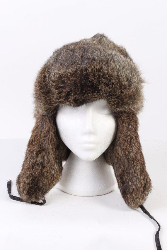 Vintage Fur Hat European Style Faux Mocha HAT341-102845
