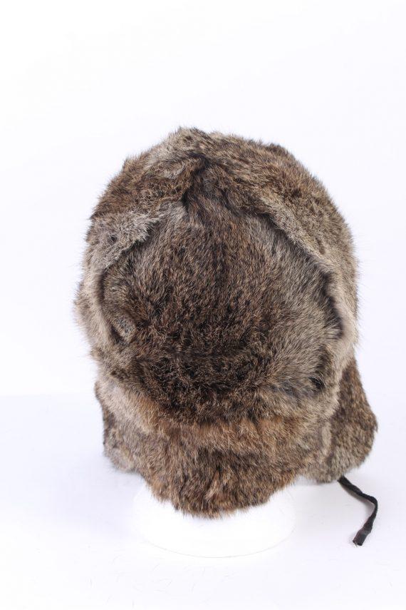 Vintage Fur Hat European Style Faux Mocha HAT341-102846