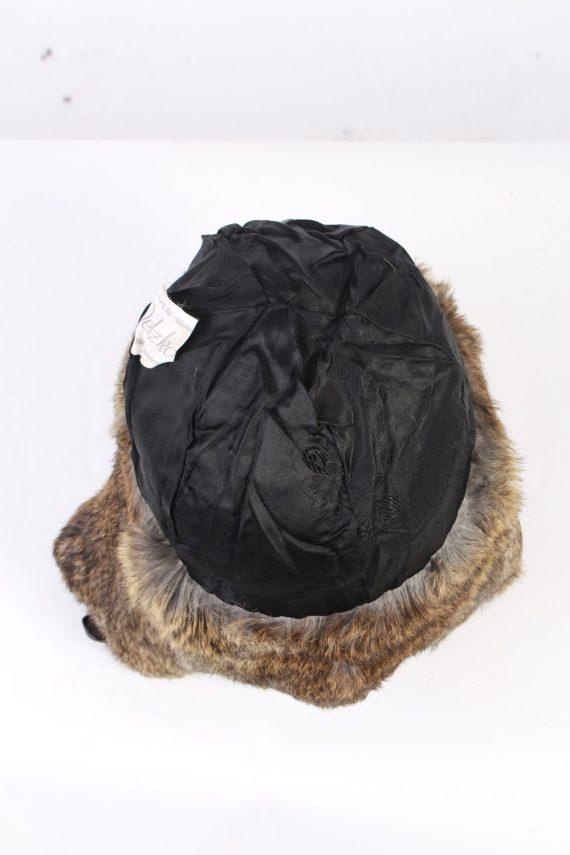 Vintage Fur Hat European Style Faux Mocha HAT341-102847