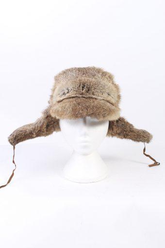 Vintage Fur Hat European Style Faux Mocha HAT343-102853