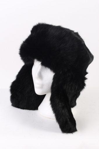 Vintage Fur Hat Canadian Style Faux