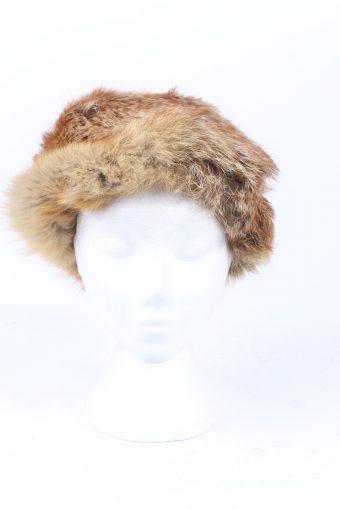 Vintage Fur Hat Canadian Style Genuine Brown HAT352-102889
