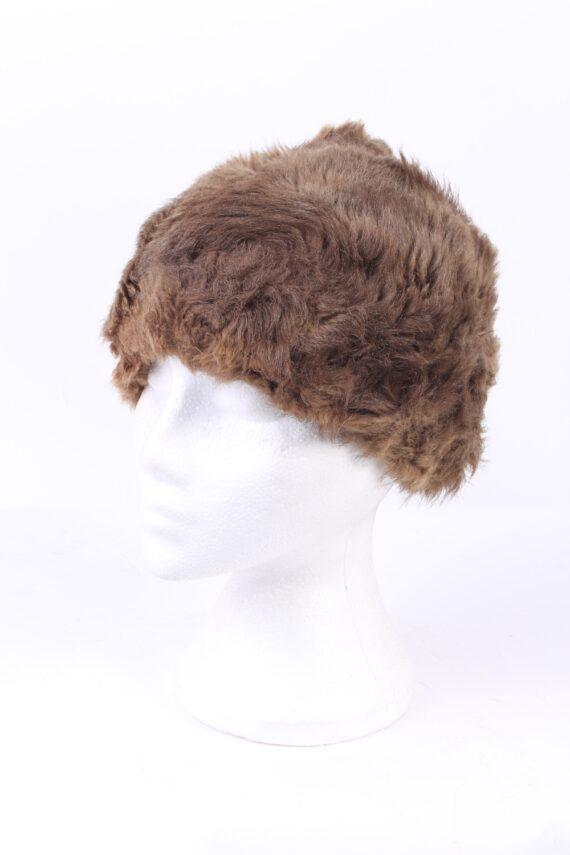 Vintage Fur Hat European Style Cossack Brown HAT359-0