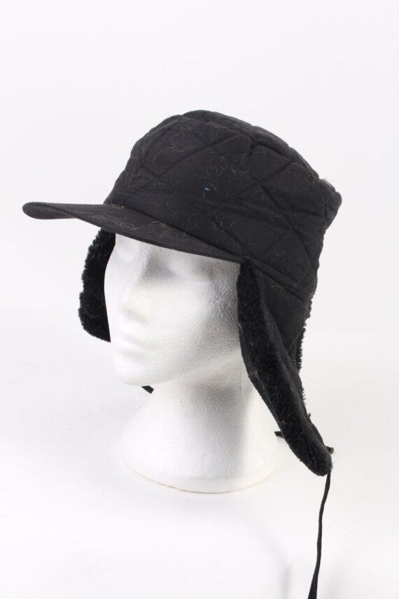 Vintage Fur Hat Russian Style Cossack Black HAT363-0