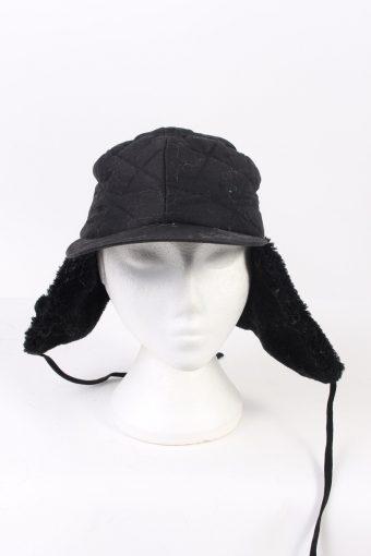 Vintage Fur Hat Russian Style Cossack Black HAT363-102937