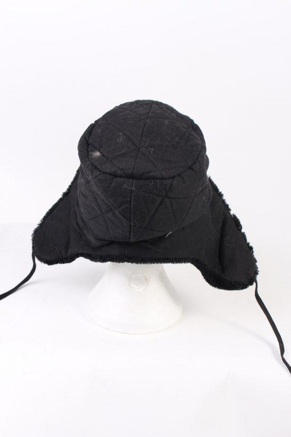 Vintage Fur Hat Russian Style Cossack Black HAT363-102938
