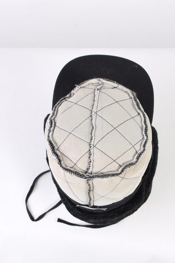Vintage Fur Hat Russian Style Cossack Black HAT363-102939