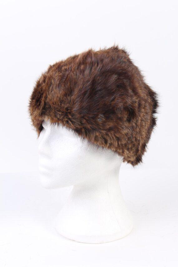 Vintage Fur Hat European Style Faux Brown HAT371-0