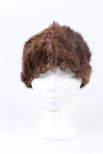 Vintage Fur Hat European Style Faux Brown HAT371-102969