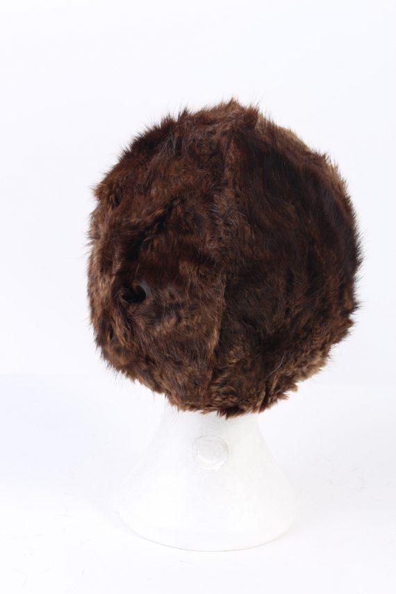 Vintage Fur Hat European Style Faux Brown HAT371-102970