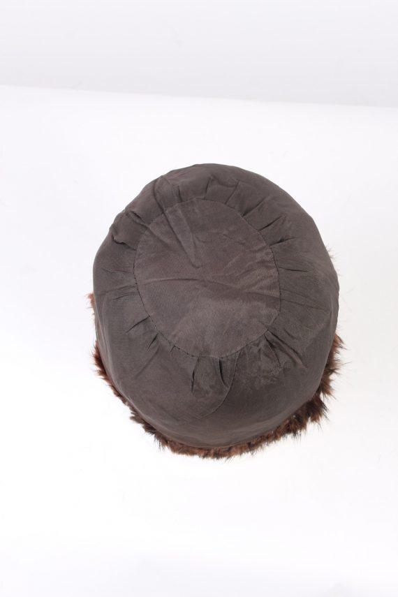 Vintage Fur Hat European Style Faux Brown HAT371-102971