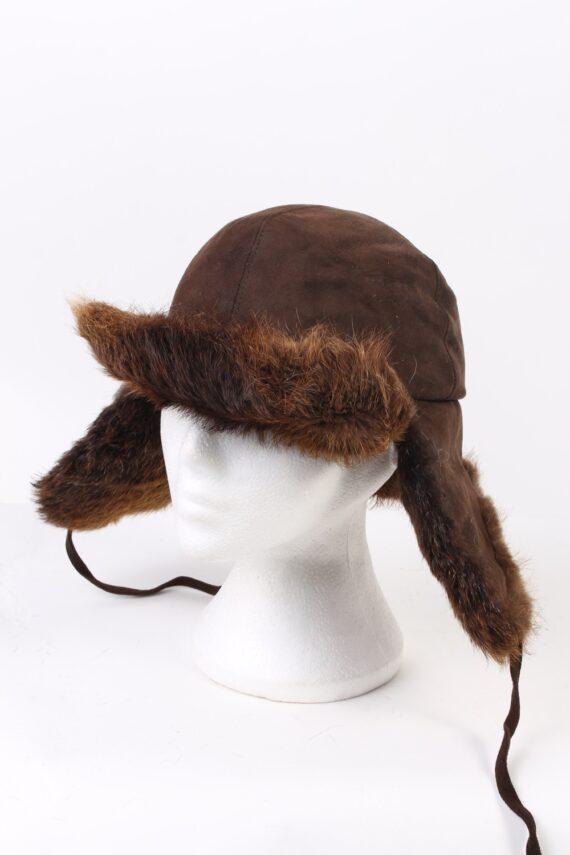 Vintage Fur Hat European Style Faux Brown HAT372-0