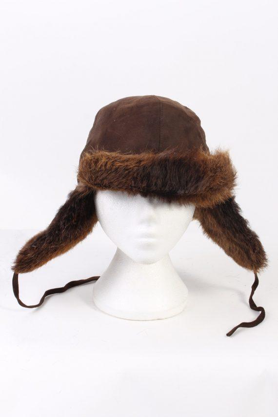 Vintage Fur Hat European Style Faux Brown HAT372-102973