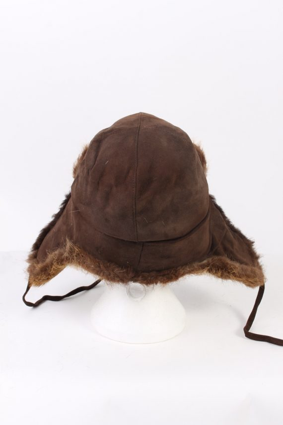 Vintage Fur Hat European Style Faux Brown HAT372-102974