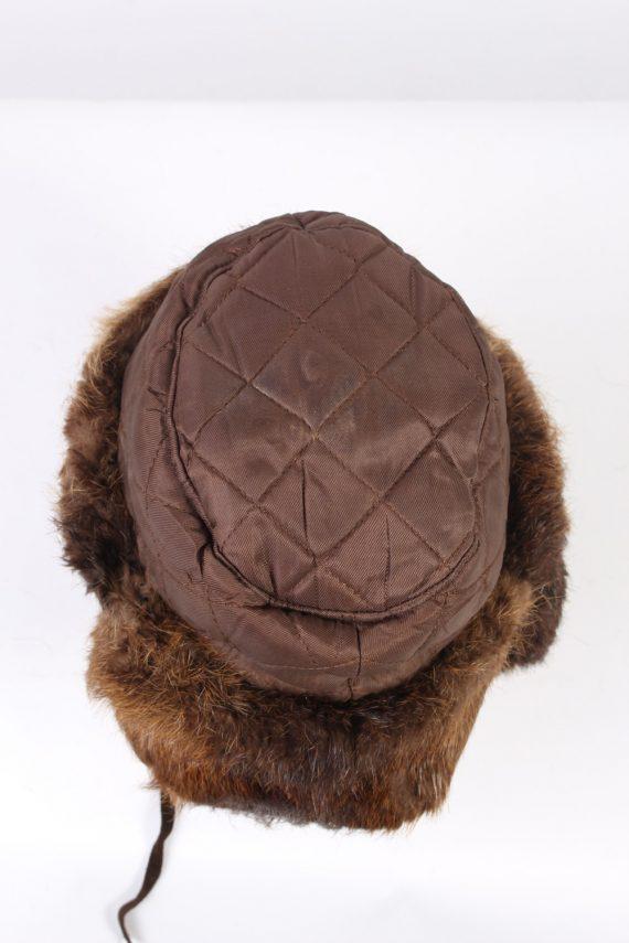 Vintage Fur Hat European Style Faux Brown HAT372-102975