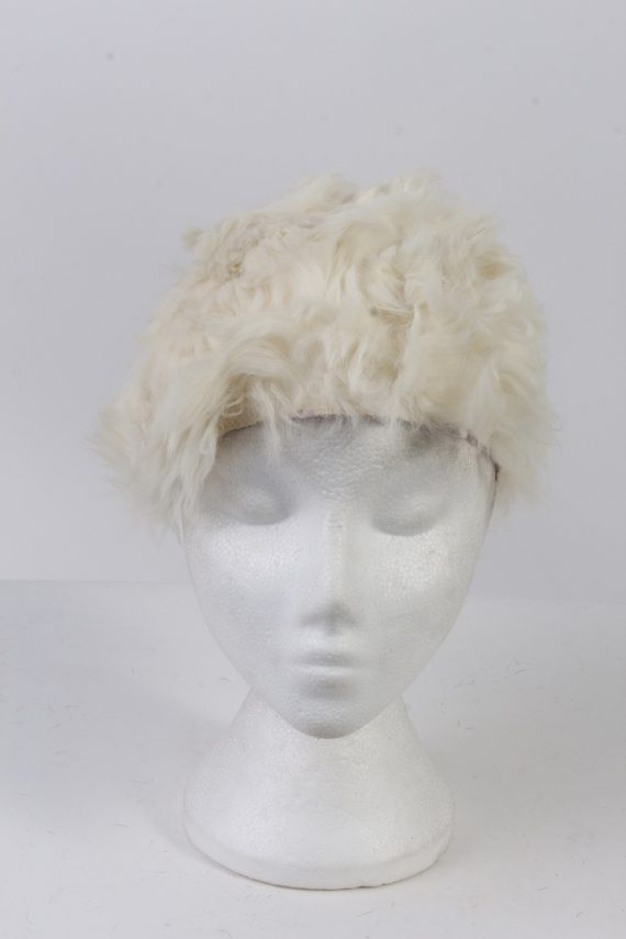 Vintage Fur Hat European Style Cossack White HAT385-103032