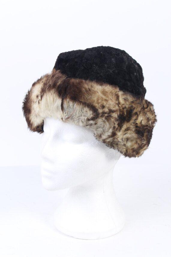 Vintage Fur Hat European Style Faux Black HAT402-0