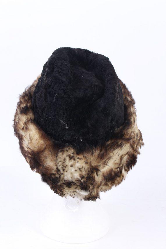 Vintage Fur Hat European Style Faux Black HAT402-103084