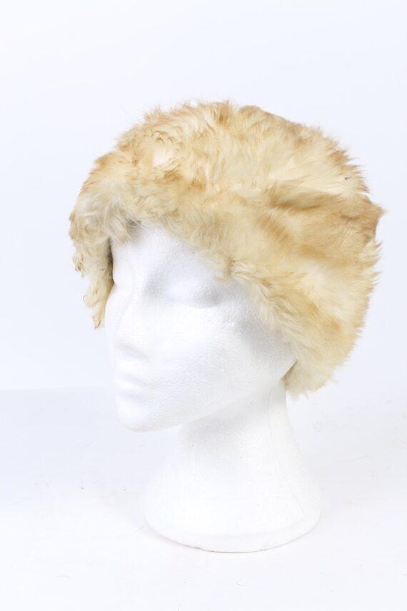 Vintage Fur Hat European Style Faux White HAT415-0