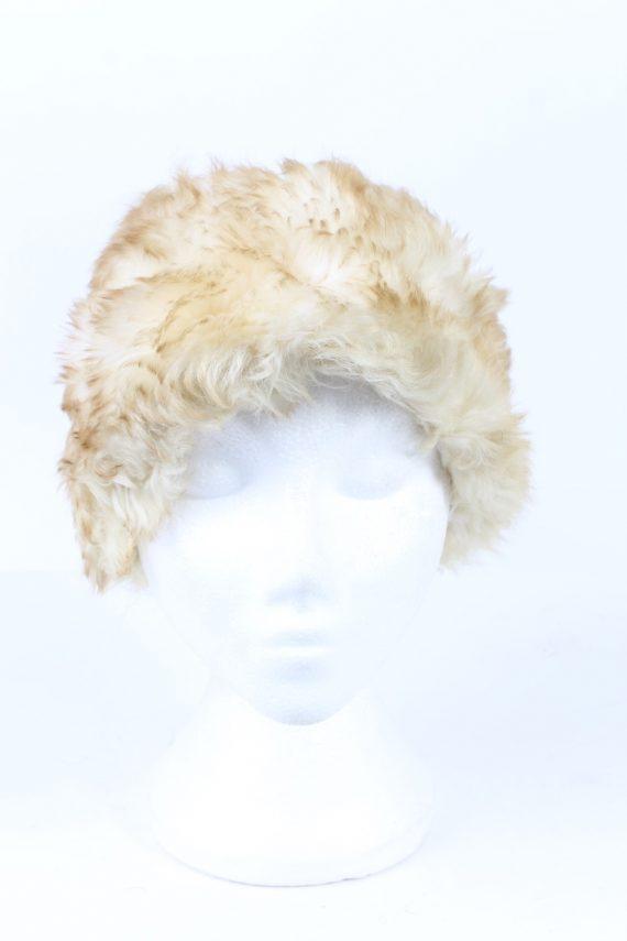 Vintage Fur Hat European Style Faux White HAT415-103122