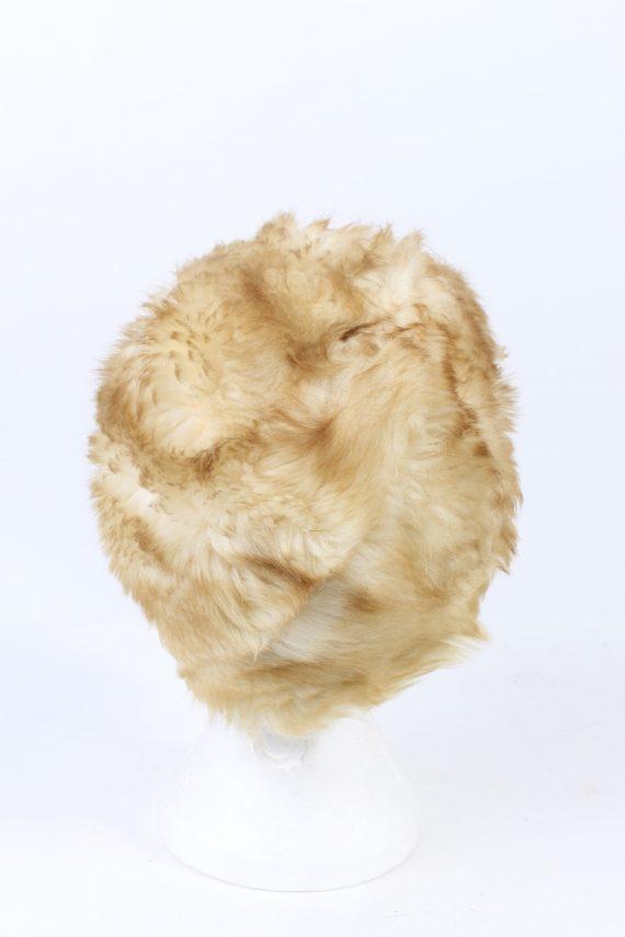 Vintage Fur Hat European Style Faux White HAT415-103123