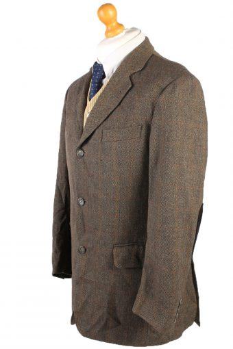Vintage Burberry Breuninger Window Pane Blazer Jacket Chest 48 Brown HT2555-103211