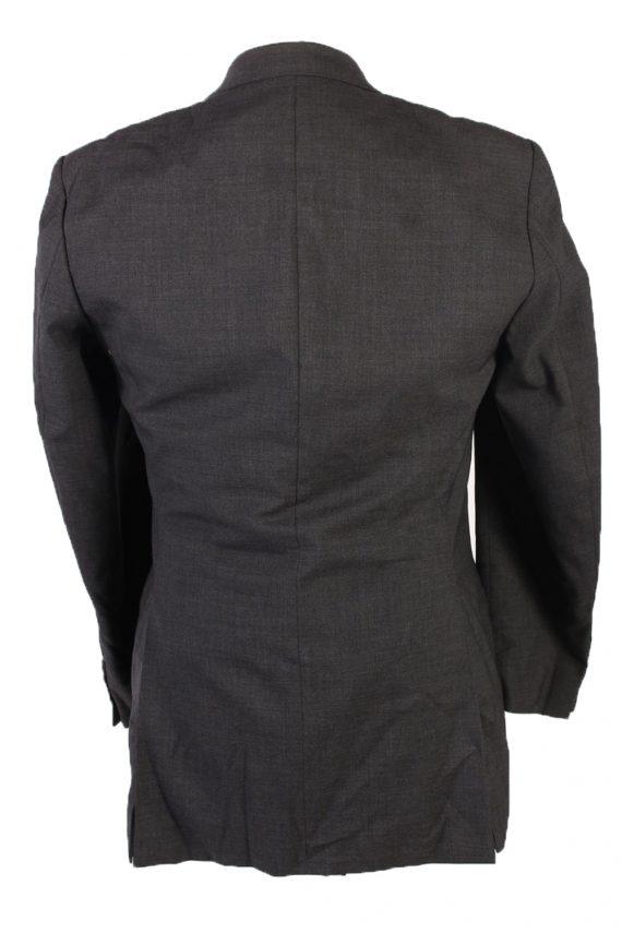 Vintage Burberry Wool Plain Blazer Jacket Chest 46 Grey HT2564-103257