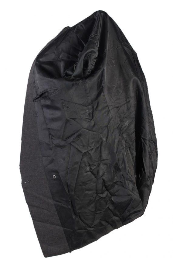 Vintage Burberry Wool Plain Blazer Jacket Chest 46 Grey HT2564-103259