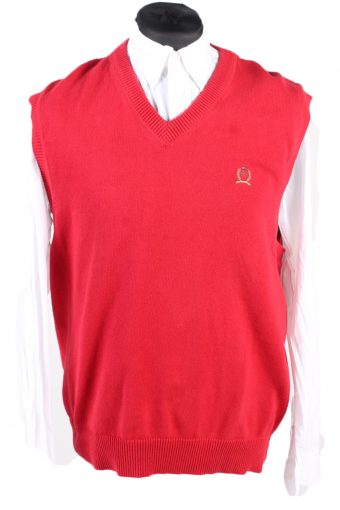 Tommy Hilfiger Sweater 90s Sleveeless Red L