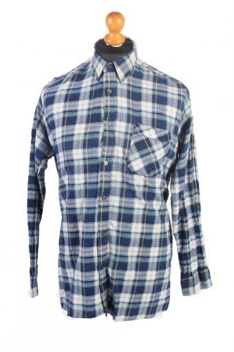 Flannel Check Shirt South West Blue L