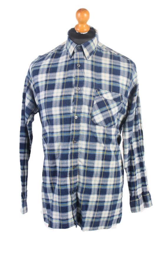 Vintage Flannel Check Shirt South West L Blue SH3616-0