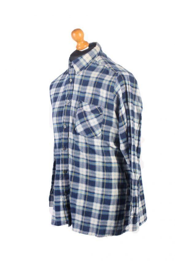 Vintage Flannel Check Shirt South West L Blue SH3616-102445